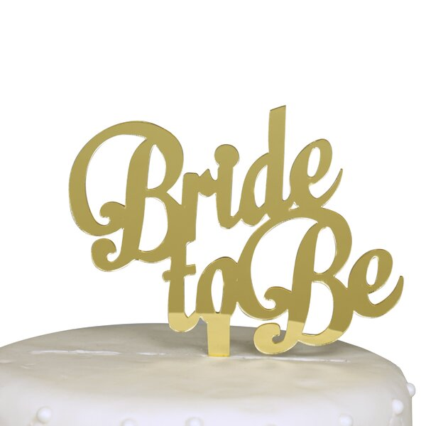 Bride to Be Bachelorette Party Cake Topper by Unik Occasions