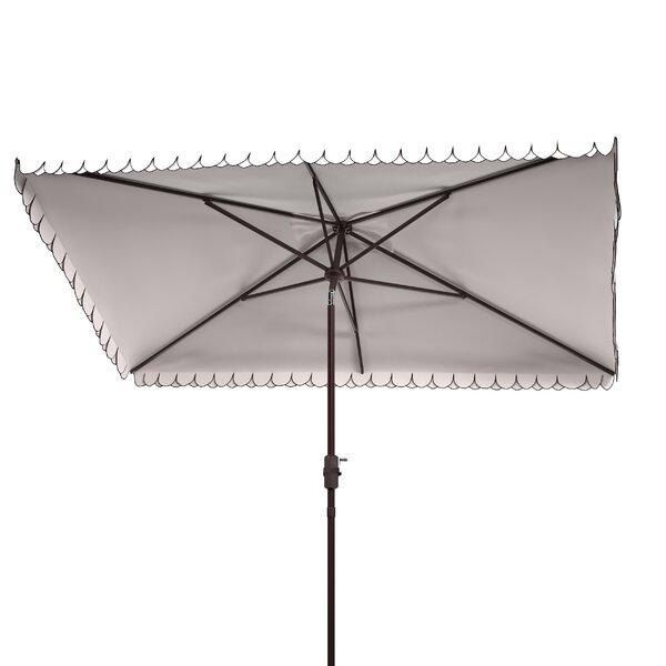 Schlesinger 9.85' Rectangular Market Umbrella by Alcott Hill