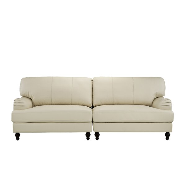 Boell Convertible 2 Piece Leather Sofa by House of Hampton