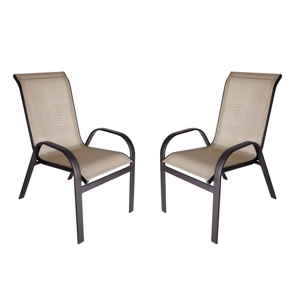 Jame Stacking Patio Dining Chair (Set of 2) by Red Barrel Studio