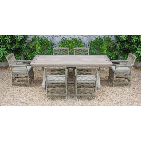 Fotau Outdoor 7 Piece Dining Set with Cushions by Bay Isle Home