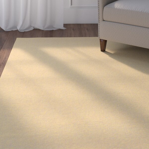 Naples Wool Peanut Butter Area Rug by Andover Mills