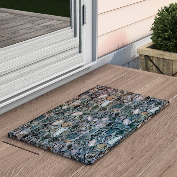 Agathe Welcome Inlaid Stones Doormat by Loon Peak