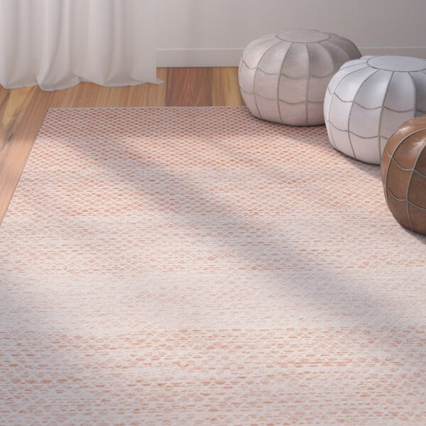 Saleem Hand-Woven Orange/Ivory Area Rug by Bungalow Rose