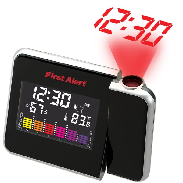 Indoor Temperature Station with Projection Clock by First Alert