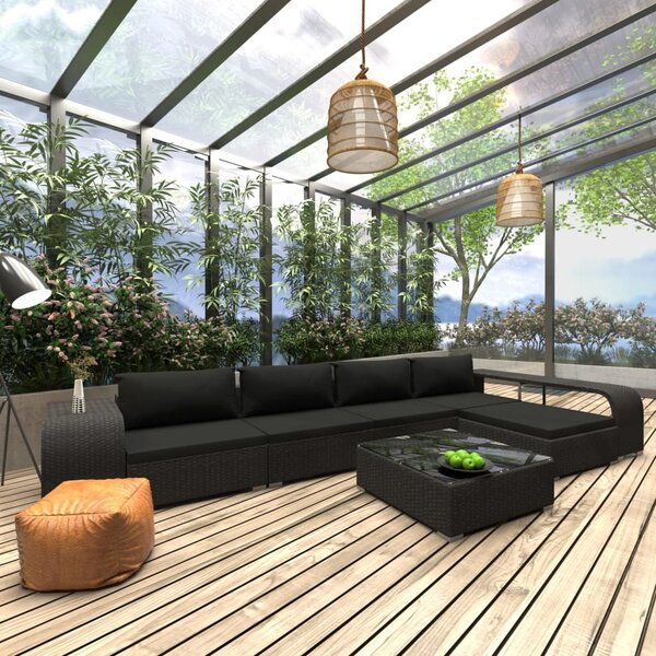 Andreja Garden 8 Piece Rattan Sectional Seating Group with Cushions by Latitude Run