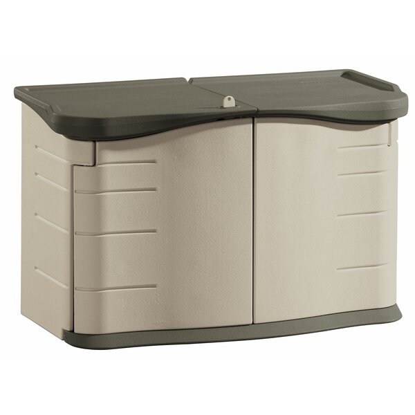 4 ft. 7 in. W x 2.4 ft. D Plastic Horizontal Garbage Shed by Rubbermaid
