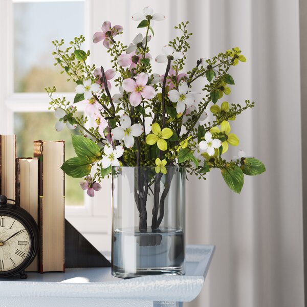 Silk Dogwood with Vase by Three Posts