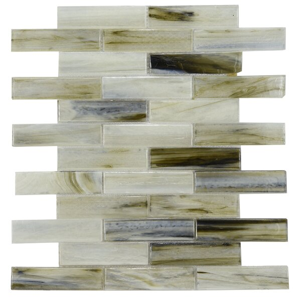 Laguna Glass Mosaic Tile in Gray/Black by Byzantin Mosaic