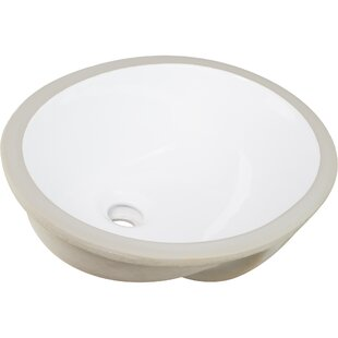 Affordable Belfast Series Vitreous China Oval Undermount Bathroom Sink with Overflow By Ticor Sinks