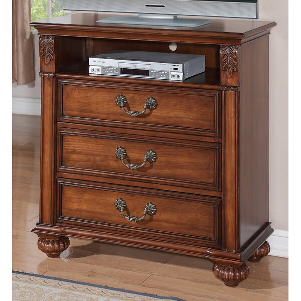 Free S&H Leigh 3 Drawer Media Chest