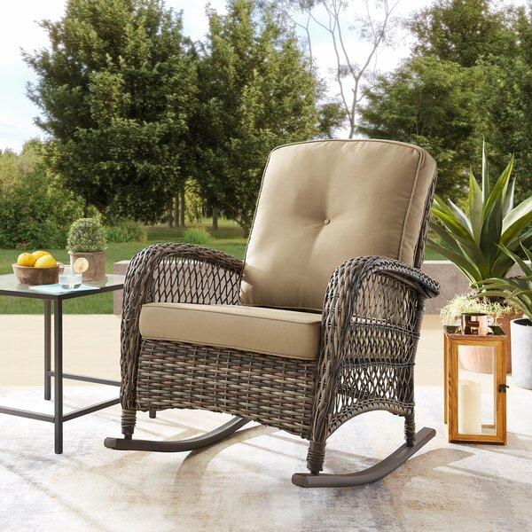 Pelletier Rocking Chair with Cushions by Bay Isle Home