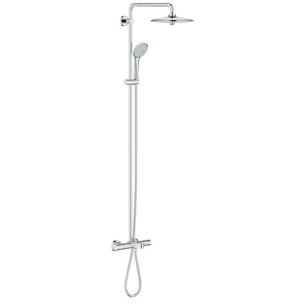 Euphoria Pressure Balanced Diverter Rain Complete Shower System with SpeedClean Technology by Grohe