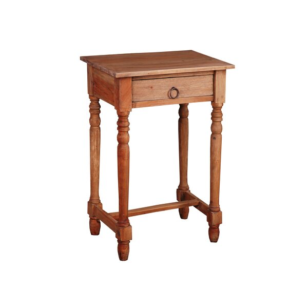 Nonie Cottage End Table by August Grove