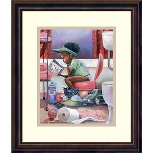 'The Thinker' Framed Print on Wood by Zoomie Kids