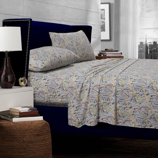 Fiji Paisley 300 Thread Count Egyptian Quality Cotton Deep Pocket Sheet Set by Tribeca Living