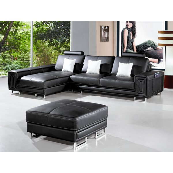 Last Trendy Martini Left Hand Facing Sectional with Ottoman by Hokku Designs by Hokku Designs