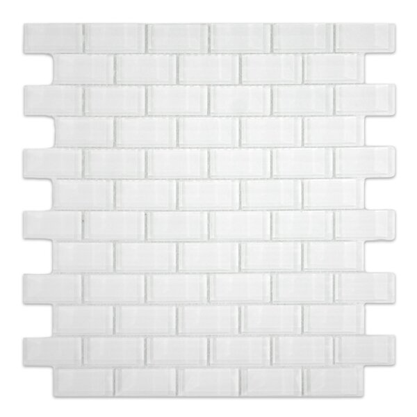 Oxygen 1 x 2 Glass Mosaic Tile in White by CNK Tile