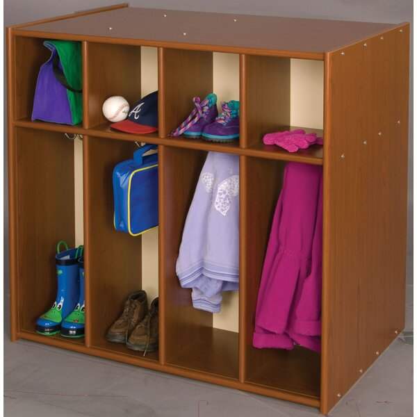 Vos System 2 Tier 4 Wide Coat Locker by TotMate