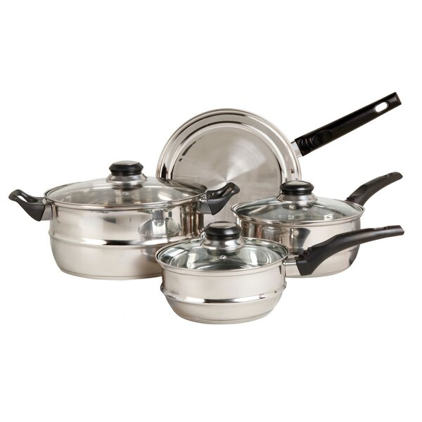 Ridgeline 7 Piece Stainless Steel Cookware Set by Sunbeam