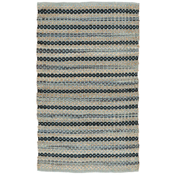 Abhay Hand Woven Blue/Black Area Rug by Bungalow Rose