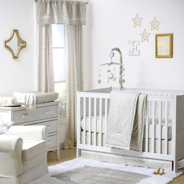 All that Glitters Confetti 4 Piece Crib Bedding Set by The Peanut Shell