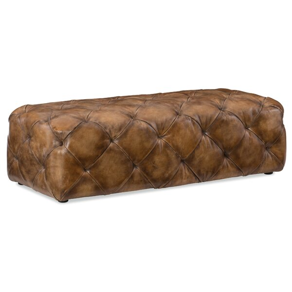 Decorative Leather Cocktail Ottoman by Hooker Furniture