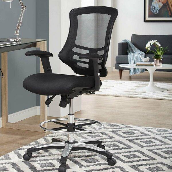 La Mott Ergonomic Mesh Drafting Chair by Symple Stuff