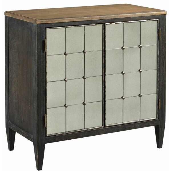Hassani 2 Door Mirrored Accent Cabinet