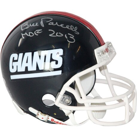 Decorative Bill Parcells Signed Giants Mini Helmet by Steiner Sports