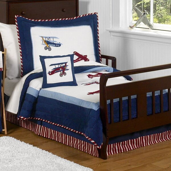 Vintage Aviator 5 Pieces Toddler Bedding Set by Sweet Jojo Designs