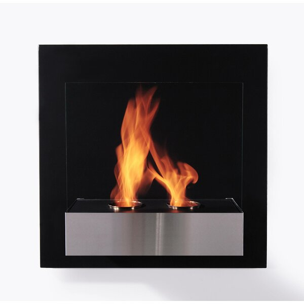 Pure Wall Mounted Ethanol Fireplace by BioFlame