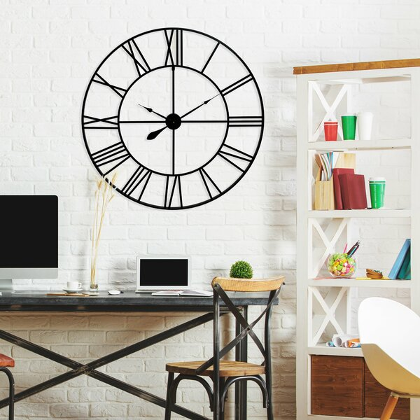 Oversized Zetilla Cut Out Roman Numeral 36 Wall Clock by Gracie Oaks