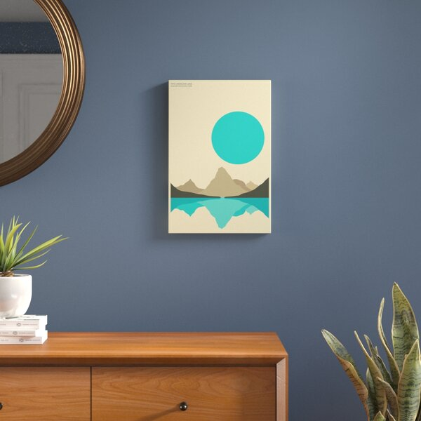Glacier Graphic Art on Wrapped Canvas by Langley Street