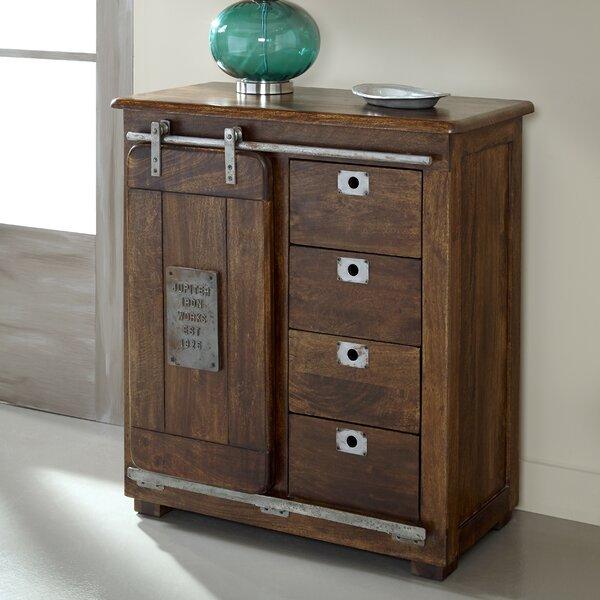 4 Drawer 1 Door Accent Cabinet Amp Reviews Birch Lane
