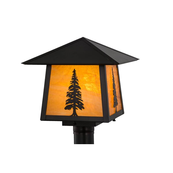 Greenbriar Oak Stillwater Tall Pine 1-Light Lantern Head by Meyda Tiffany