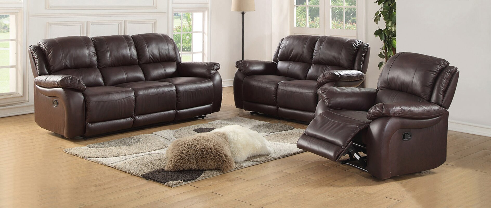 Latitude run juan 2 piece leather living room set reviews 2 piece leather living room set