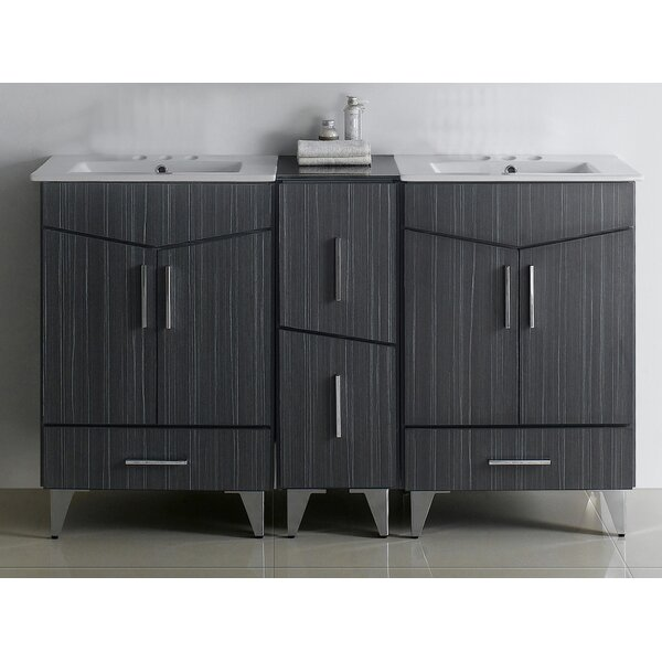 Mascher 62 Double Sink Bathroom Vanity
