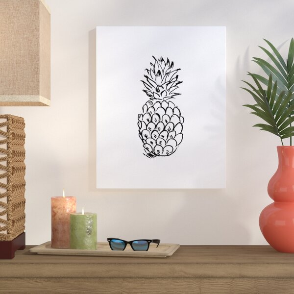 Pineapple Graphic Art on Wrapped Canvas by Bay Isle Home
