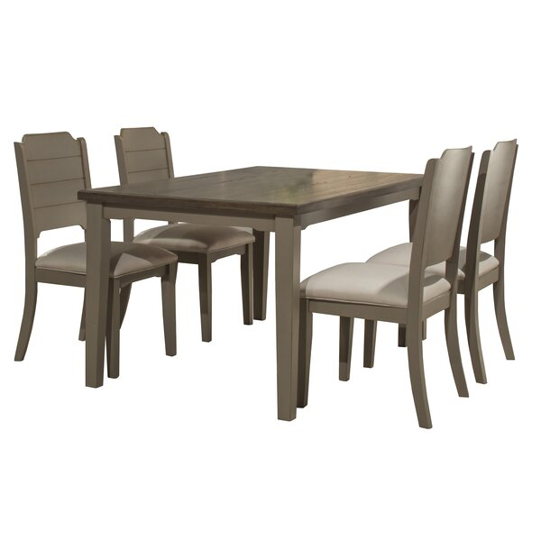 Kinsey 5 Piece Dining Set by Rosecliff Heights