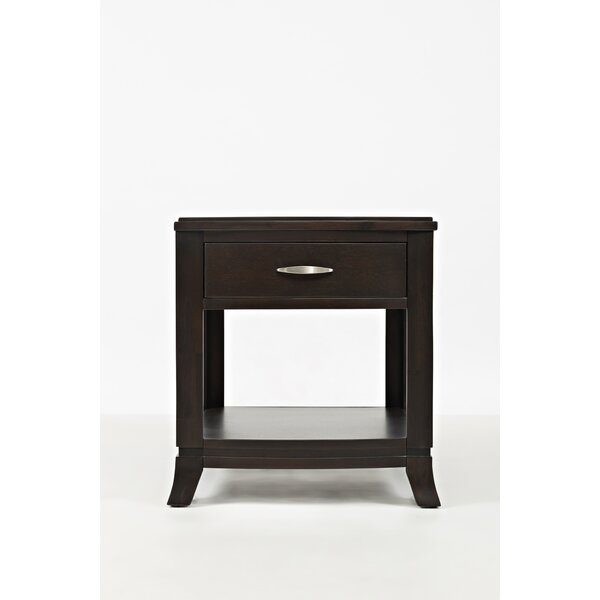 Hankinson Transitional Wooden End Table by Red Barrel Studio