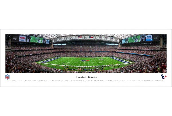 NFL Houston Texans 50 Yard Line Photographic Print by Blakeway Worldwide Panoramas, Inc