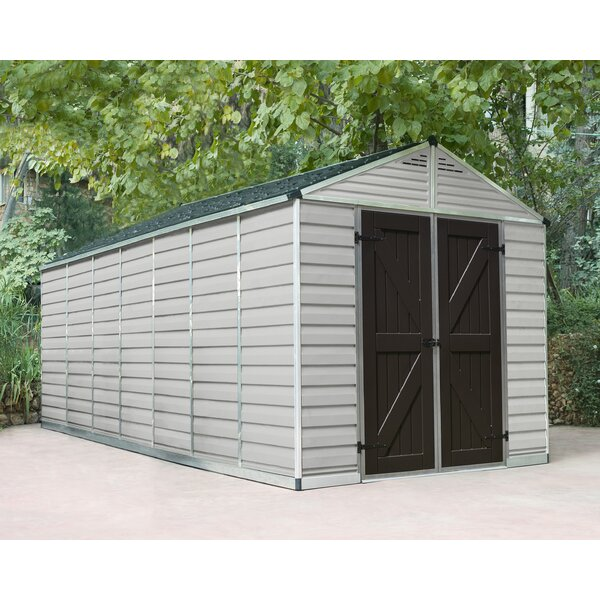 SkyLight™ 7 ft. 9 in. W x 17 ft. 4 in. D Plastic Storage Shed by Palram