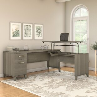 Whitestone Height adjustable L-Shape Computer Desk