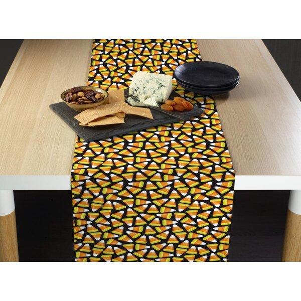 Espana Halloween Candy Corn Milliken Signature Table Runner by The Holiday Aisle