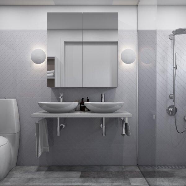 Arabesque 3 x 3 Porcelain Mosaic Tile in Light Gray by Giorbello
