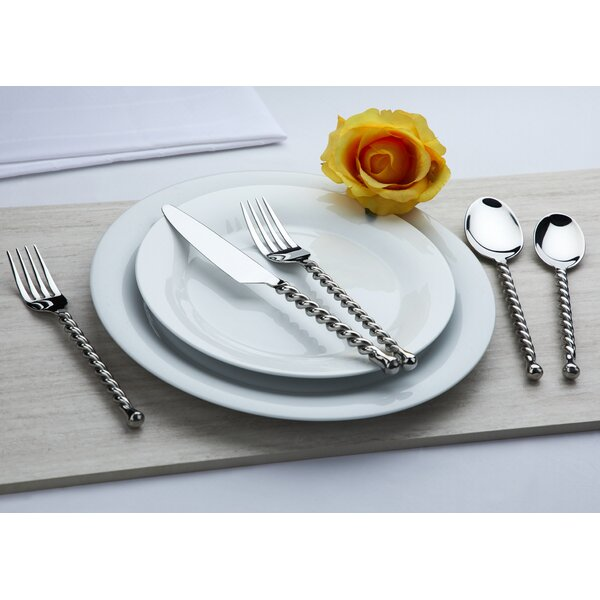 Handmade 20 Piece 18/10 Stainless Steel Flatware Set, Service for 4 by Gourmet Settings