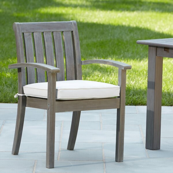 "Rossi Stacking Patio Dining Chair with Cushion by Birch Laneâ""¢ Heritage"