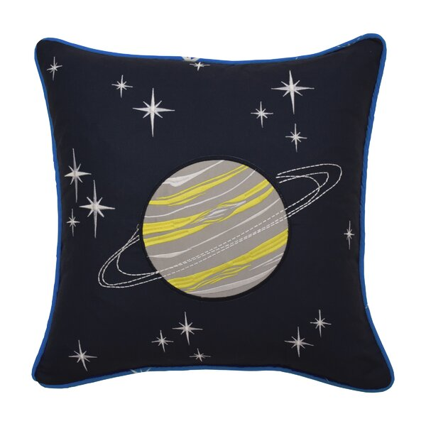 Space Adventure Embroidered Throw Pillow by Waverly