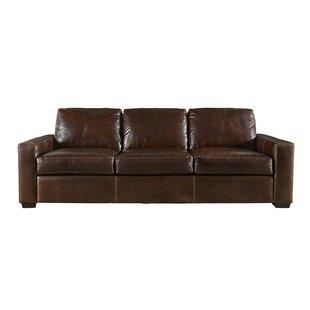 full grain leather sofa wayfair. Black Bedroom Furniture Sets. Home Design Ideas